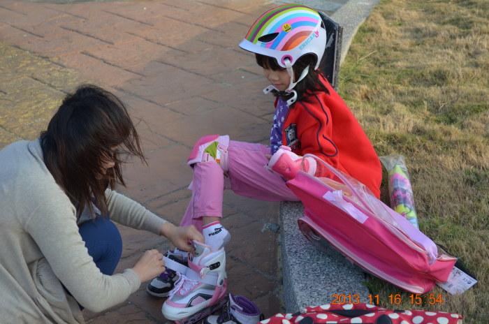 穿溜冰鞋~~~