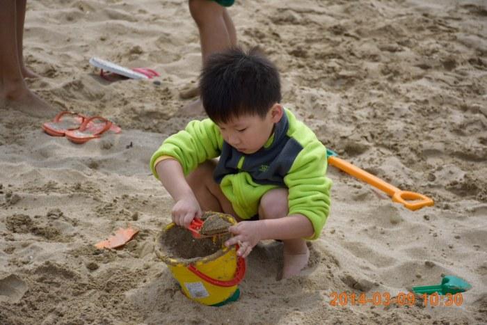 來玩沙子~~~~